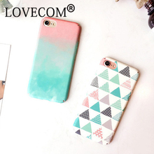 New Arrival Colorful Geometric Triangles & Mix Color Hard Scrub Thin Anti Shock Mobile Phone Cases For iPhone7 7 Plus 6 6S Plus