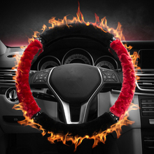 2016 Time-limited Special Offer Momo Steering Wheel Gspscn Plush Winter Steering Wheel Cover Artificial Wool Heated Non-slip