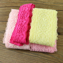Random delivery 4 yards of pure cotton mixed fabric edge Crochet Lace Ribbon handmade jewelry(China)