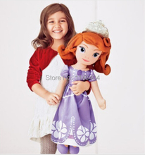 Free Shipping princess doll plush toy Sofia the First princess sofia doll plush toys 70cm/50cm Stuffed soft toys dolls for girls