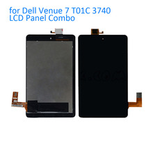 ALANGDUO for Dell Venue 7 T01C 3740 LCD Display Screen with Touch Screen Digitizer Panel Front Replacement Touchscreen Tablet