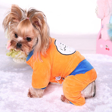Autumn and winter new seven dragon beads cotton transfiguration pet Teddy VIP dog clothes