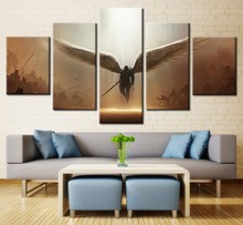 Custom Fashion Gifts 5 Piece Avenging Angel Oil Painting On Canvas Modern Home Pictures HD Prints Poster for Living Room Decor