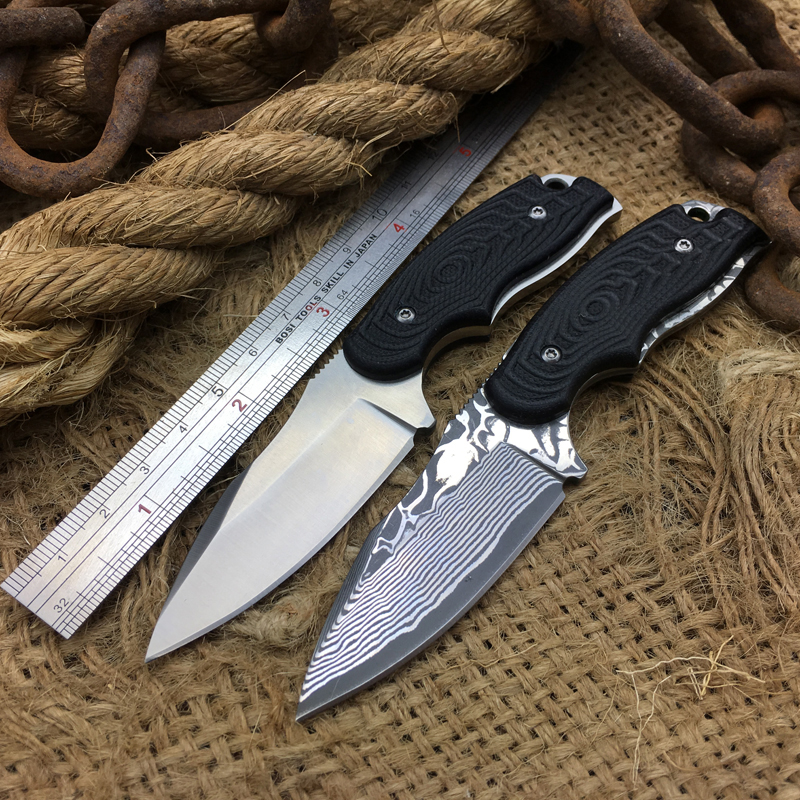 2 Options RIJIKU S93 Damascus &amp; 8Cr13Mov Steel Camping Hunting Knife Fixed Blade Knife Army Bowie Tactical Survival Knives 2039#<br><br>Aliexpress