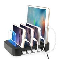 4 Ports USB Hub Universal Multi Device Charging Station Fast Charger Docking 24W for iPhone iPad Samsung Galaxy LG Tablet PC(China)