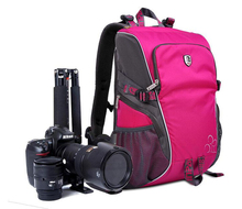 Pink Waterproof BACKPACK DSLR SLR Camera Case Bag For Nikon Canon Sony Fuji Pentax Olympus Leica Outdoor Bag Photograph Bag