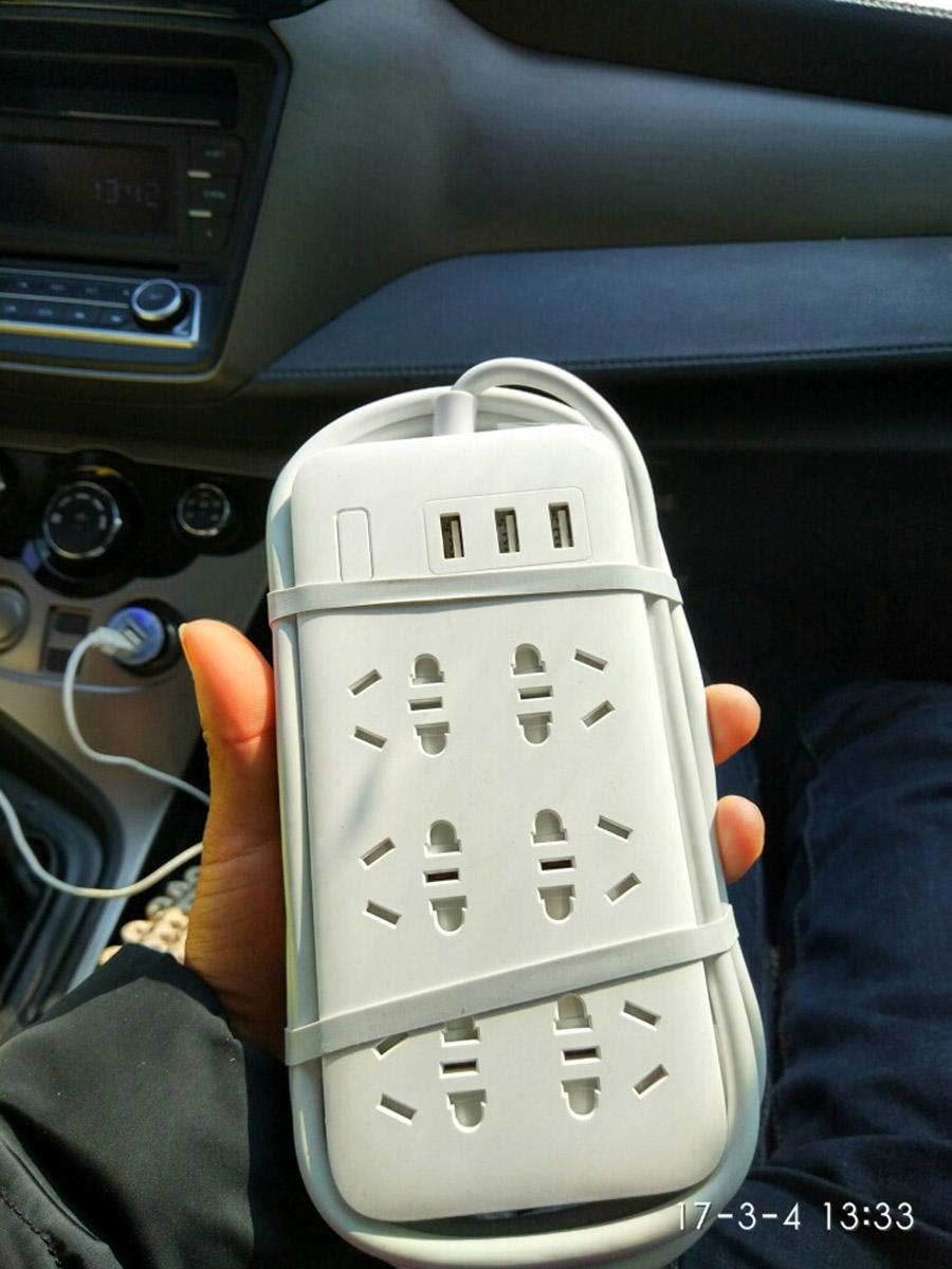 Original Xiaomi Smart Power Strip 2.1A Fast Charging 3 USB Extension Socket Plug 6 Standard Socket Adapter (28)