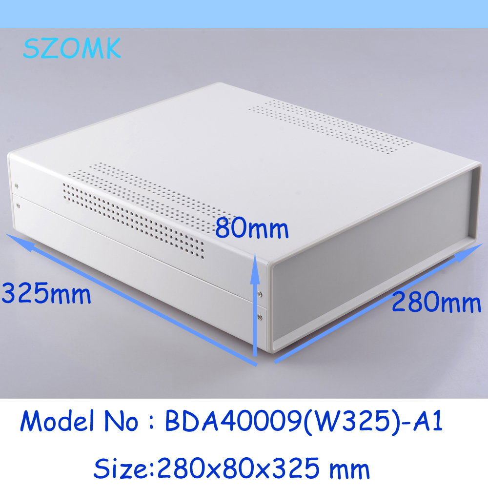 (1pc)280x80x325mm steel enclosure electronic enclosure metal box standard iron device box enclosure industrial case diy iron box<br>