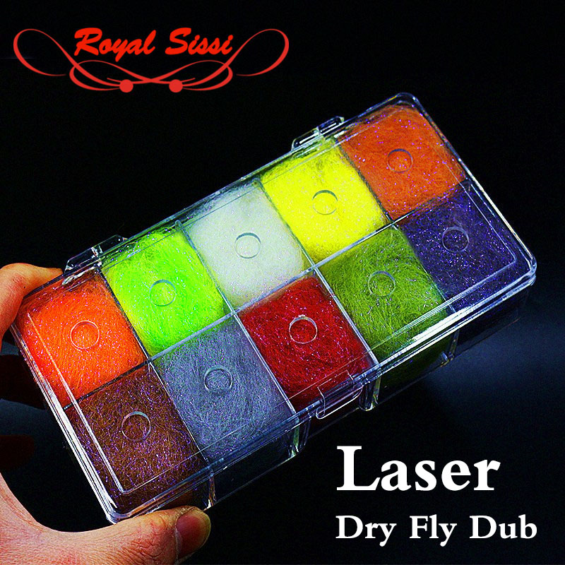 10colors new developed 2.5Denir laser dry fly dubbing synthetic dry dub plus UV ice dub/ permanent waterproof fly tying material<br><br>Aliexpress
