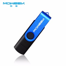 Moweek Fashion OTG Flash Drive Android Smart Phone 64gb USB Flash 32gb 16gb Rotating Pen Drive 8gb 4gb metal Pendrive for gift(China)