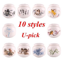 Home kitchen 10 styles china Ceramic Tea Spice Nuts Food Cady Sugar Salt Sealed Storage Bottles Jars Container Tank Canister(China)