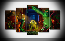 7371 monsters monsters inc pixar animation studios movies Poster Framed Gallery wrap art print home wall decor Gift wall(China)