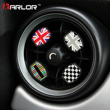 For mini cooper car perfume accessories auto car styling interior faint fragrance union jack checker style Air Freshener