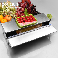 ZONESUN Stainless steel cling film sealing machine,Food fruit vegetable fresh film wrapper, cling film sealer packaging(China)