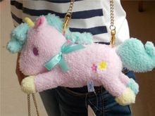"10"" Sanrio Little Twin Stars Pink Unicorn Bag Charm Animal Doll Plush Stuffed Toy NWT(China)"