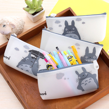 totoro pencil vintage stationery students anime pen box pouch bag bags school canvas Korea cute cheap art supplies stationery