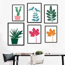 Leaves Aloe Cactus Canvas Paintings Plant Potted Stencil Nordic Wall Art Pictures Poster Print Pop For Living Room Home Decor