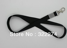 BUY customized logo imprinted single flat  lanyards High Quality  conference busiess neck strap black 10MM width wholesale