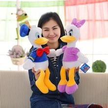2pcs/lot 30cm Stuffed Dolls Donald Duck &Daisy Duck  Soft  Kids Gift Plush Stuffed Toys High Quality for Gift