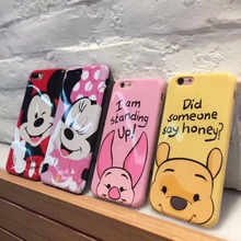For iPhone 7 Case Iphone 7 Plus 7Plus Cute Cartoon Mickey Minnie Case Soft Honey Moblie Phone Coque For iPhone 6 Case 6s Plus(China)