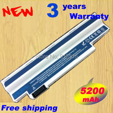 High quality 6 Cell Laptop battery for Acer Aspire One 532 532G 532H AO532 AO532G AO532H AO533 NAV50 White gift(China)