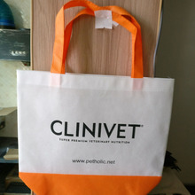 500pcs/lot DIY eco-friendly non woven gift shopping bags with customized logo(China)