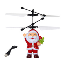 Buy Electric Infrared Sensor Flying Santa Claus LED Flashing Light Toys RC Helicopter Drone Toy Kids Magic Christmas Gift for $4.99 in AliExpress store