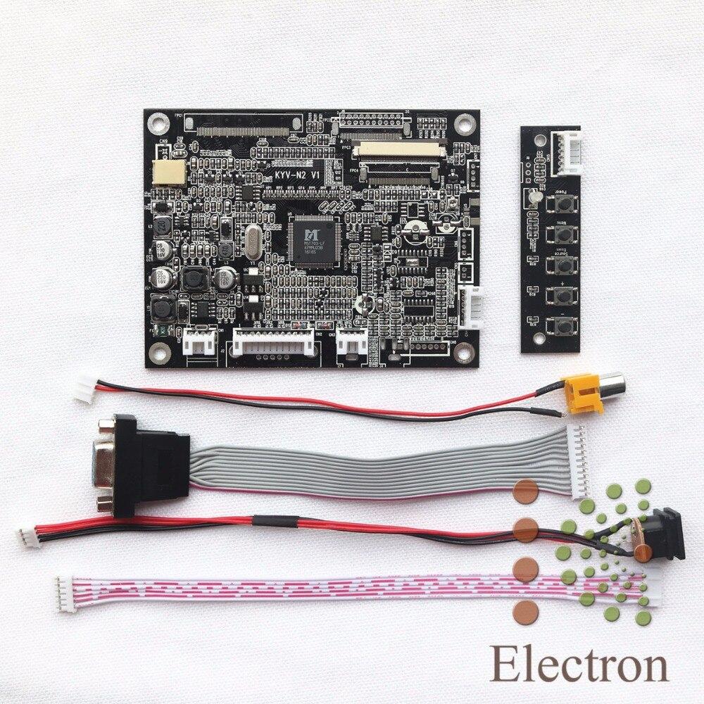 VGA AV LCD Controller board KYV-N2 V1 kit work for 5inch AT050TN22 640x480 LCD Screen<br><br>Aliexpress