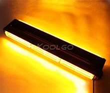 108W COB Traffic Flashing Beacon Emergency Warning Strobe LED Light Bar Amber