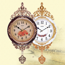 20 inches clock European wall clock supe swing clock sitting room mute creative quartz clock(China)