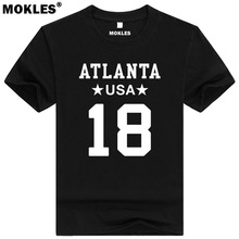 TAYLOR GABRIEL 18 atlanta custom made name number t shirt mesquite texas t-shirt team usa gray blue red print text word clothing(China)