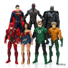 Justice league Aquaman Superman Wonder Woman the Flash Batman Green Lantern VC Figure Collectible Model Toy 2 Style 15-17cm(China)