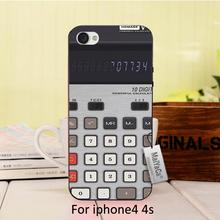Cute  Calculator Novelty Fundas phone case Cover For case iPhone 4 4s