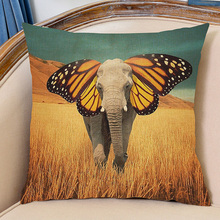 10 Models Southeast Asia Exotic Elephant Stylish Fashion Sofa Cushion Colorful Tropical Animal Pattern Car Seat Pillows Cojines