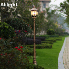 Courtyard Garden Lighting Lamp Waterproof Garden Decor Focos Exterior Post Fashion Street Gazebo High Pole Landscape Lighting