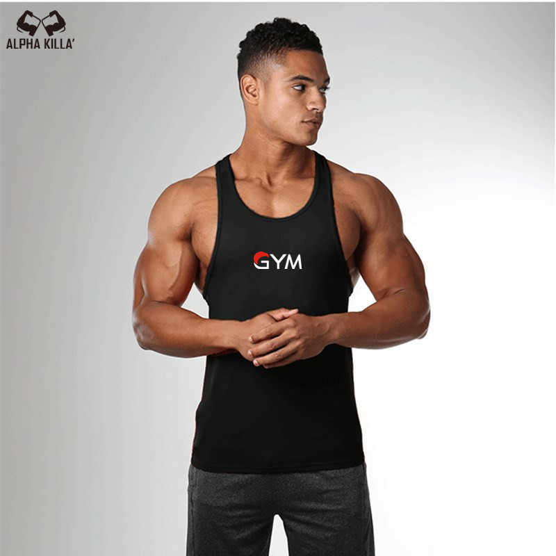 2cc2285479747 Fashion Top new Golds gyms Brand bodybuilding stringer tank top men GYM  letter printing fitness muscle