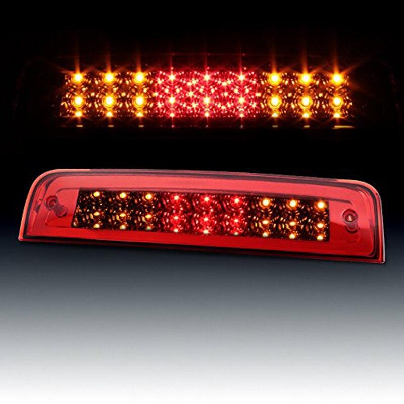 Car Rear Tail Third Brake Light Assembly Chrome High Mount Brake Stop Warning Lamp Set Red for Dodge Ram 1500 2500 3500 <br>