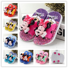 Hot Sale Fashion girls boys cartoon sandals cool summer kids homewear sandals baby animation slippers shoes flip flop hairdryer