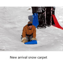 2016 New Arrival Flying Carpet Snow Sled Grass skiing Carpet With Polyethylene Snow Tubes Snowboard trineos para la nieve XQ11