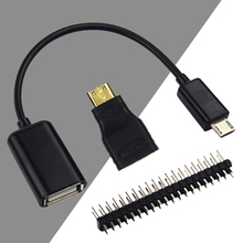 VONETS Mini-HDMI Male to HDMI Female Micro USB to USB Cable Wire Male GPIO Header Pins for Raspberry Pi Zero Assorted Kit