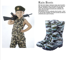 Free shipping Child Rain boots Rainboots Child children Baby fashion water shoes slip-resistant knee-high Baby  Rubber boots