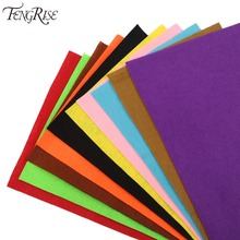 FENGRISE 10pcs 30x21cm Colorful Nonwoven Felt Fabric DIY Craft Felt Pads Sheets Sewing Apparel Patchwork Needlework Accessories