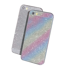 Full Body Glitter Bling Sticker For iPhone 7 Plus 6S Plus 5S 5 5C SE 4S 4 Luxury Shining Anti-Finger Skin Film Cover Case
