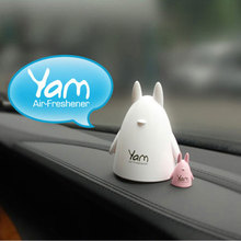 2pcs/pack Home Car fragrance crafts cute animal design car incense perfume Volatile crafts Chinchilla