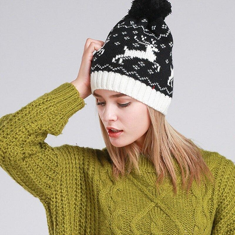 Handmade Knitted Women Hats Winter Warm Beanie Skullies Pompoms Female Knitting Hat Black Caps Girls HeadgearÎäåæäà è àêñåññóàðû<br><br><br>Aliexpress
