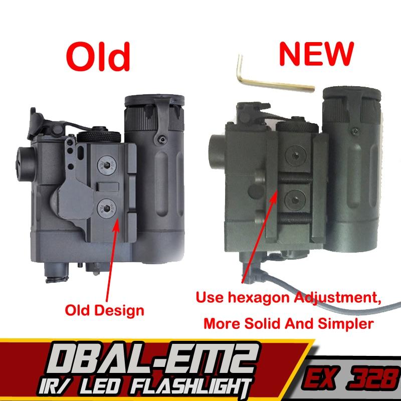 EX328-Element-Airsoft-Flashlight-IR-Laser-Led-Torch-DBAL-D2-IR-Lase-Multifunction-Tactical-IR-Illuminator
