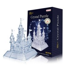 Candice guo! New arrival hot sale 3D crystal puzzle castle model DIY funny game 1pc(China)