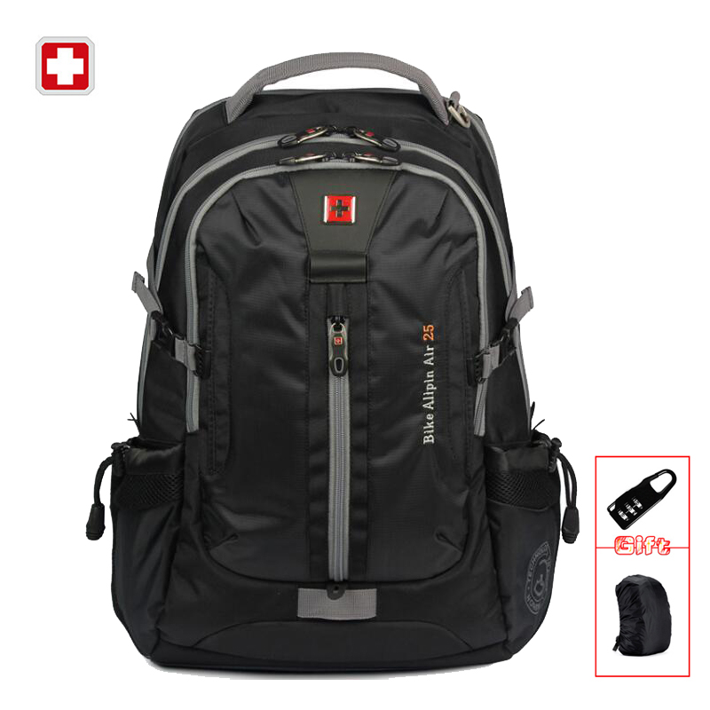 SWISSWIN Brand Mens Daily Backpack Laptop Sleeve Music Function Large Capacity Backpack For Business Travel Sac a dos SW6005V<br>