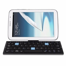 New Foldable Bluetooth Keyboard Portable Folding Metal Keyboard For iPad For Android Mobile Phone Mini Universal Keyboard