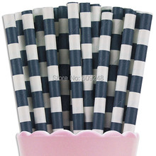 100pcs Mixed Colors Navy Sailor Striped Paper Straws,Ring Circle Rugby Stripe Drinking Straws,Cheapest,Wholesale Bulk,Party,Fun